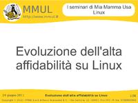 Evoluzione dell'alta affidabilita' su Linux - Documentazione