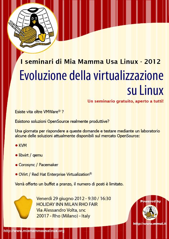 Evoluzione della virtualizzazione su Linux - Locandina