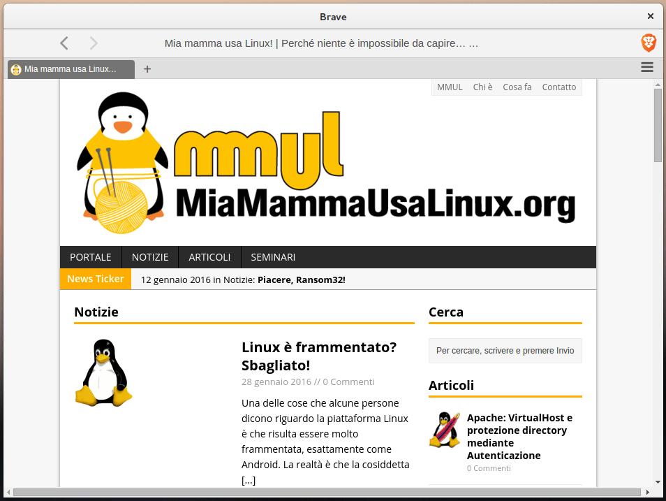 Brave - MiaMammaUsaLinux.org